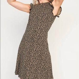 Ruffle Sleeve Ponte-Knit Sheath Dress
